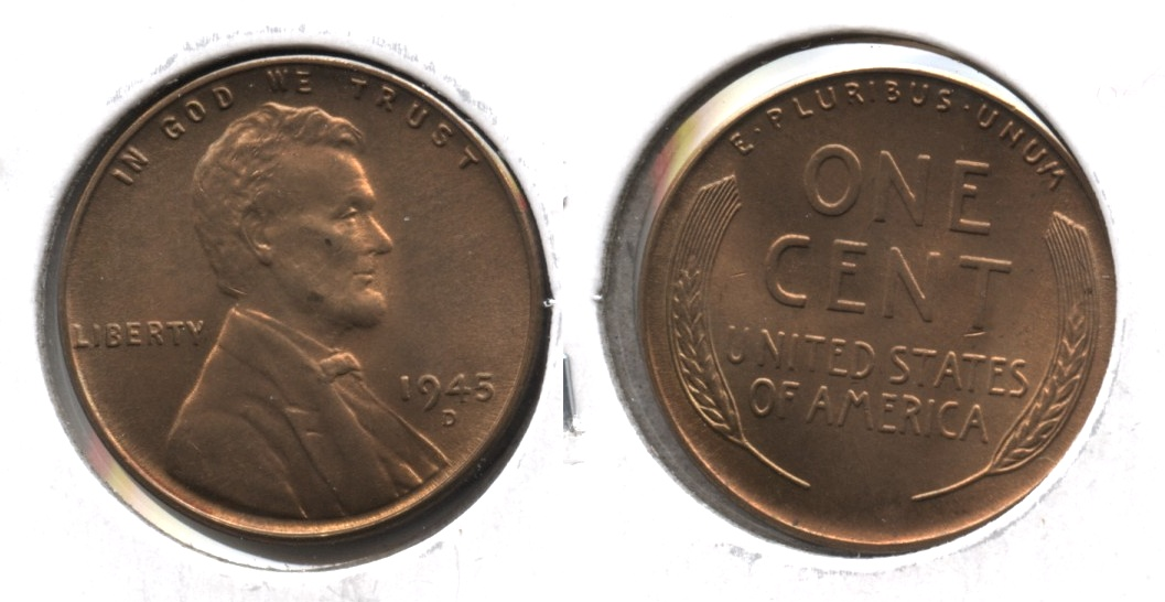 1945-D Lincoln Cent MS-65 Red Brown #b