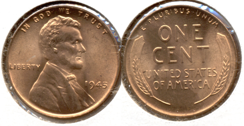 1945 Lincoln Cent MS-63 Red g