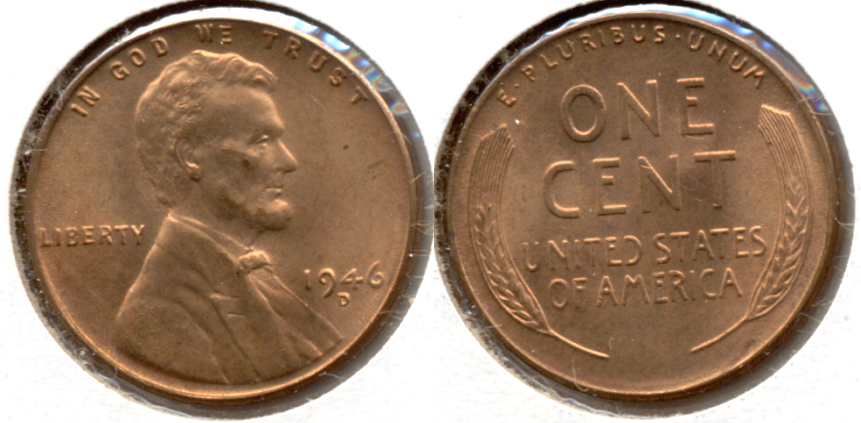 1946-D Lincoln Cent MS-62 Red d
