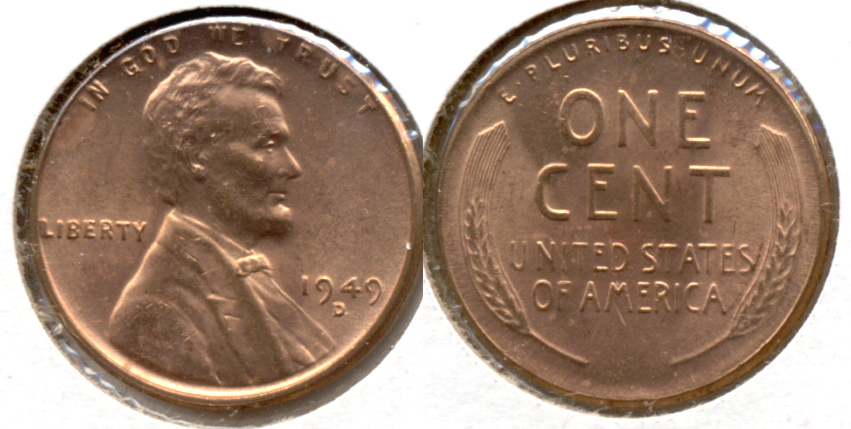 1949-D Lincoln Cent MS-62 Red a