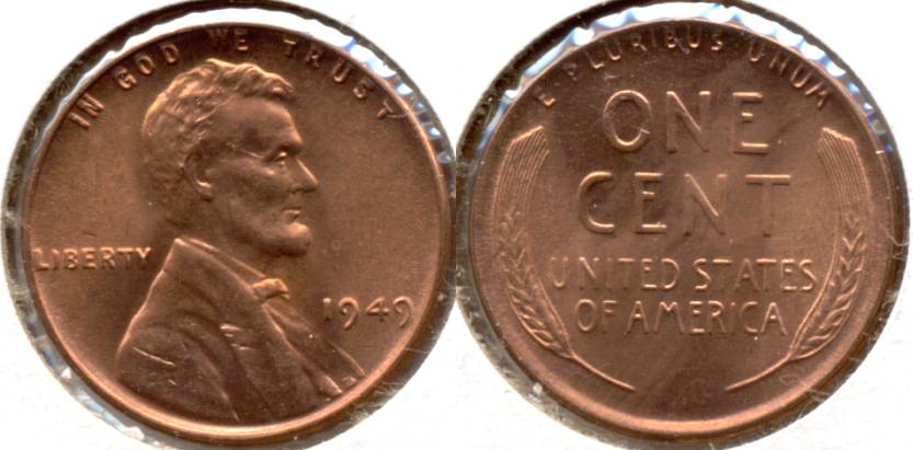 1949 Lincoln Cent MS-62 Red h