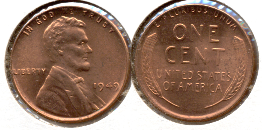 1949 Lincoln Cent MS-62 Red i
