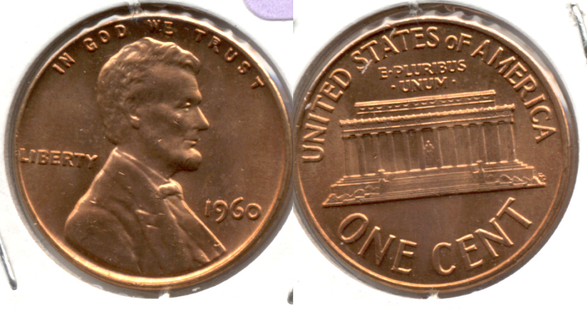 1960 Large Date Lincoln Memorial Cent Mint State