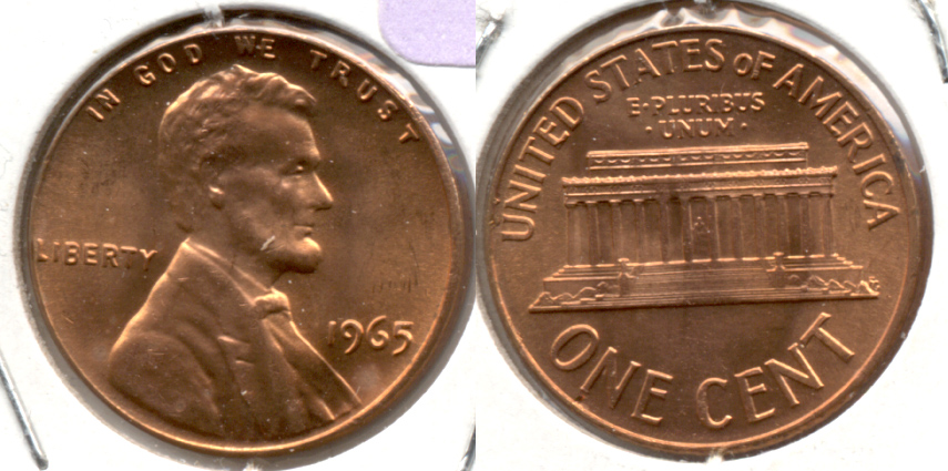 1965 Lincoln Memorial Cent Mint State