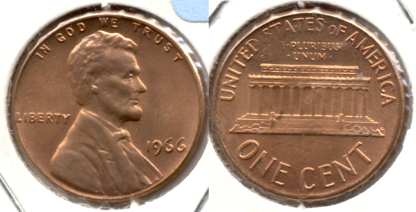 1966 Lincoln Memorial Cent Mint State