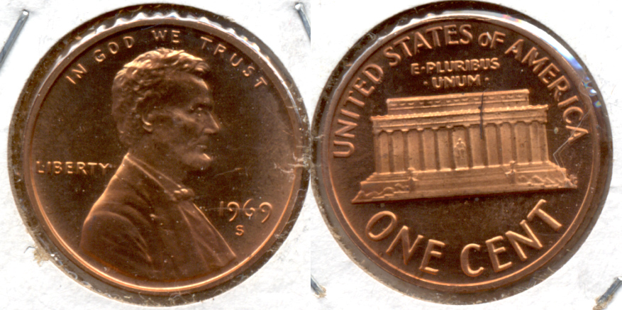 1969-S Lincoln Memorial Cent Proof