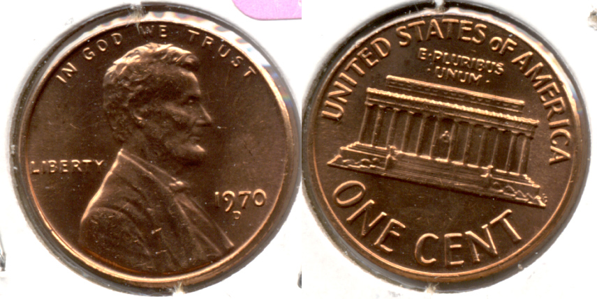 1970-D Lincoln Memorial Cent Mint State