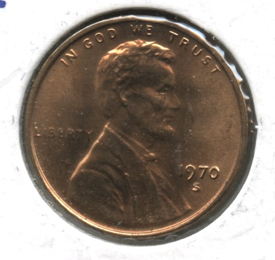1970-S Small Date Lincoln Memorial Cent Mint State