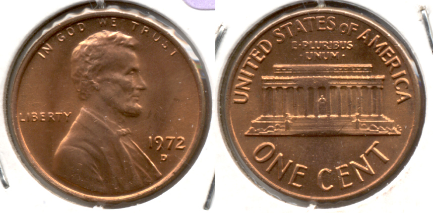 1972-D Lincoln Memorial Cent Mint State