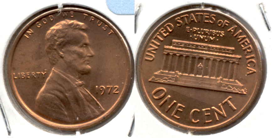 1972 Lincoln Memorial Cent Mint State