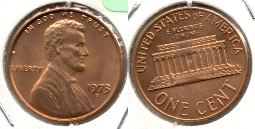 1973-D Lincoln Memorial Cent Mint State