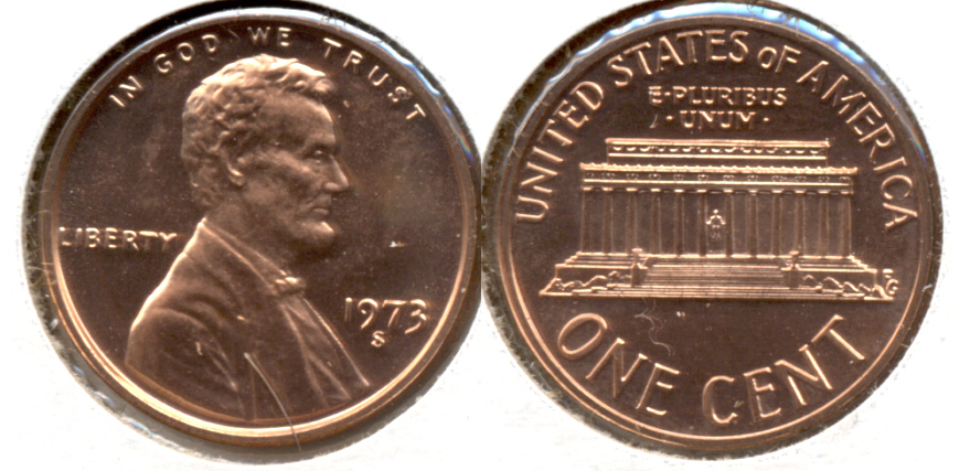 1973-S Lincoln Memorial Cent Proof