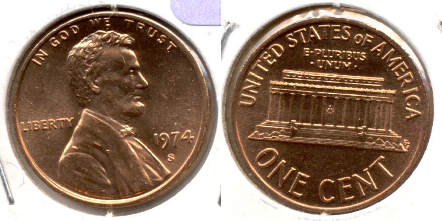 1974-S Lincoln Memorial Cent Mint State