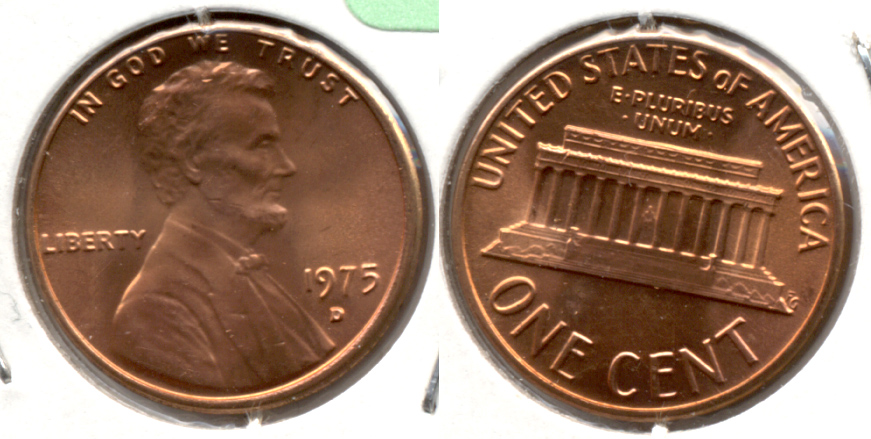 1975-D Lincoln Memorial Cent Mint State