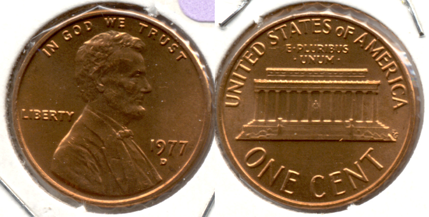 1977-D Lincoln Memorial Cent Mint State