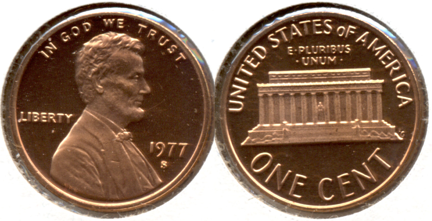 1977-S Lincoln Memorial Cent Proof