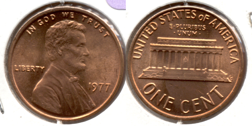 1977 Lincoln Memorial Cent Mint State