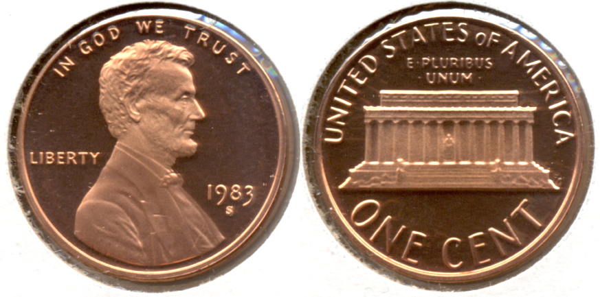 1983-S Lincoln Memorial Cent Proof