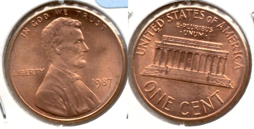 1987 Lincoln Memorial Cent Mint State