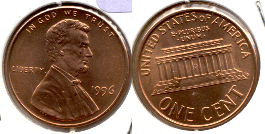 1996 Lincoln Memorial Cent Mint State