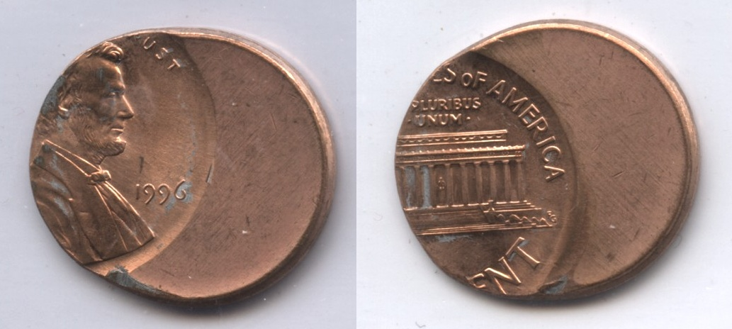 1996 Lincoln Memorial Cent Off Center Error