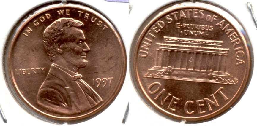 1997 Lincoln Memorial Cent Mint State