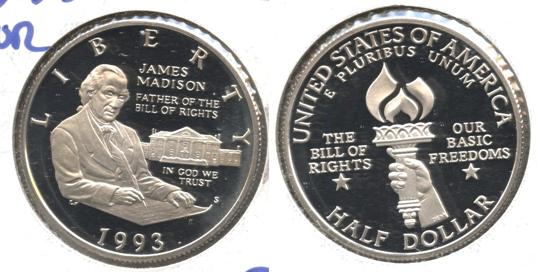 1993-S Bill of Rights Commemorative Silver Half Dollar Proof
