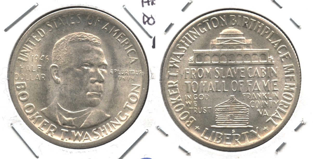 1946-S Booker T Washington Commemorative Half Dollar MS-60