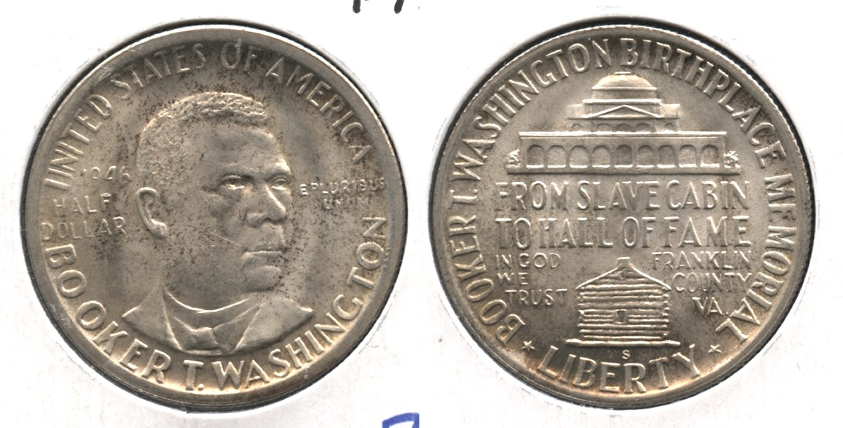 1946-S Booker T Washington Commemorative Half Dollar MS-63