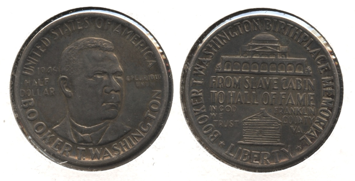 1946 Booker T Washington Commemorative Half Dollar AU-50