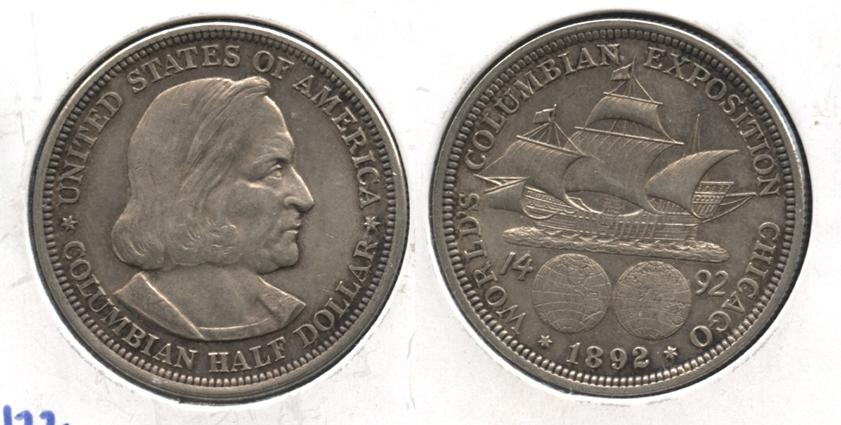 1892 Columbian Exposition Commemorative Half Dollar AU-55 #e