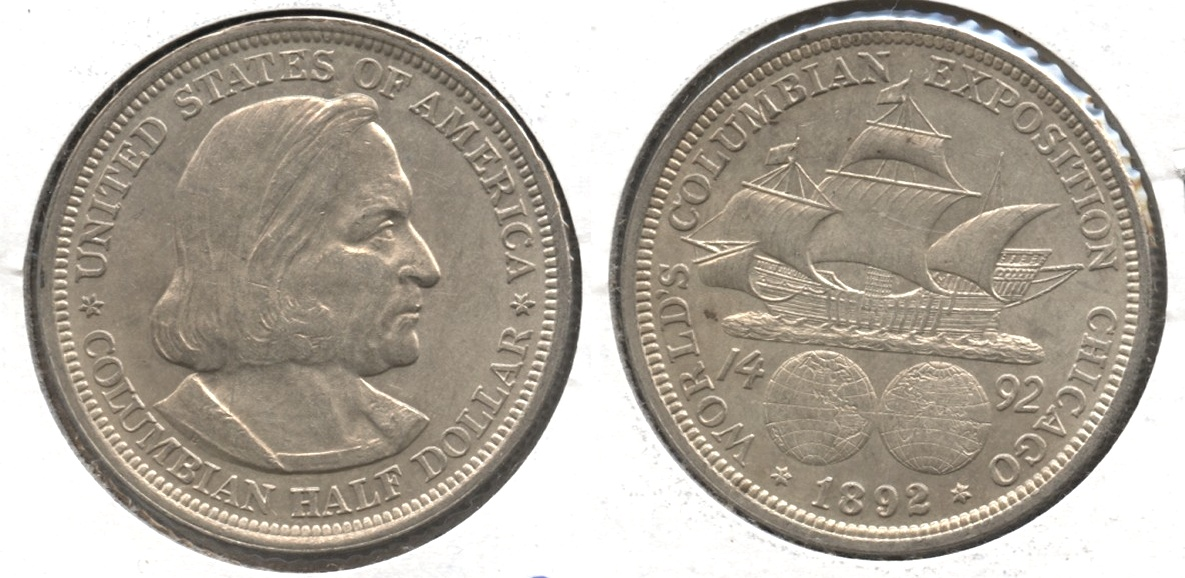 1892 Columbian Exposition Commemorative Half Dollar MS-60 #c