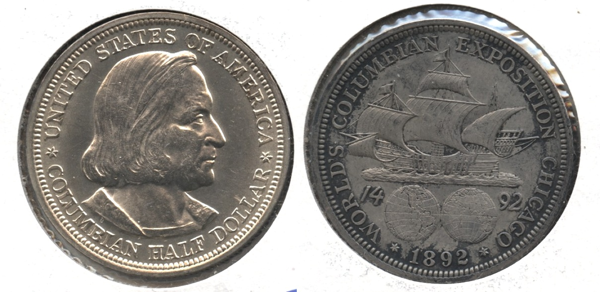 1892 Columbian Exposition Commemorative Half Dollar MS-60 #d
