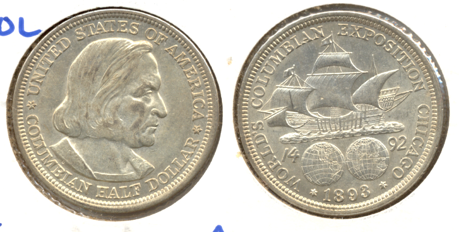 1893 Columbian Exposition Commemorative Half Dollar AU-50 i