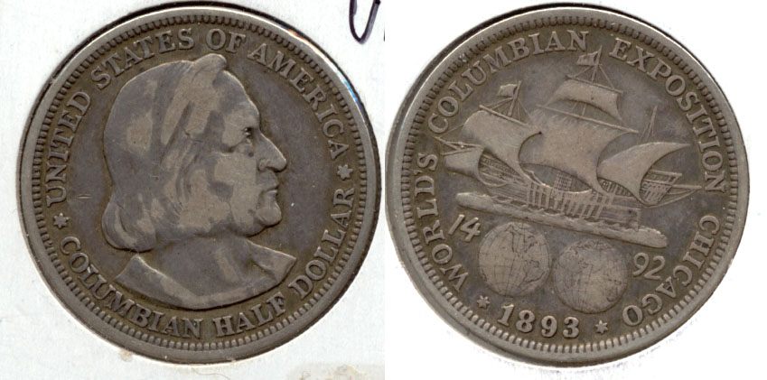 1893 Columbian Exposition Commemorative Half Dollar VF-20 a
