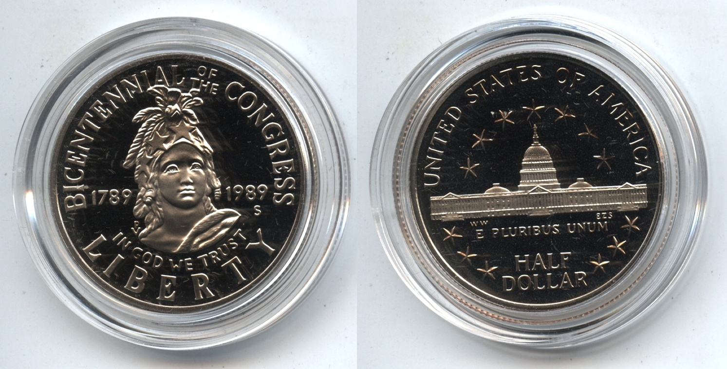 1989-S Congress Commemorative Half Dollar Proof in Capsule