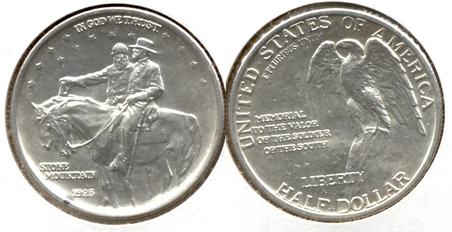 1925 Stone Mountain Commemorative Half Dollar MS-63