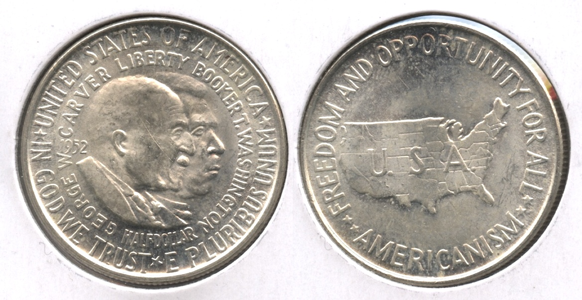 1952 Washington Carver Commemorative Half Dollar MS-60 #c