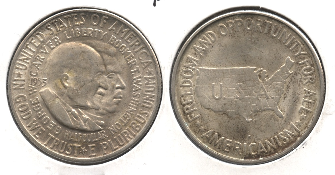 1953-S Washington Carver Commemorative Half Dollar AU-50