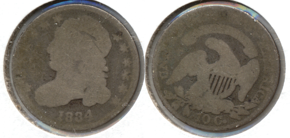 1834 Capped Bust Dime Fair-2