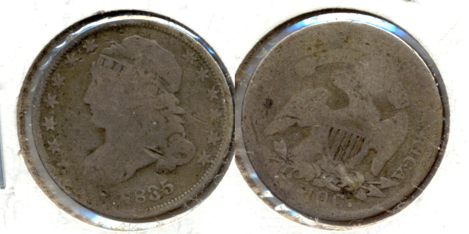 1835 Capped Bust Dime AG-3 a Light Damage