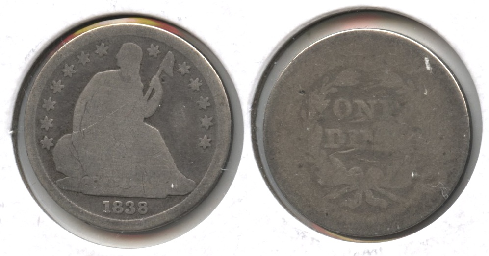 1838 Seated Liberty Dime Fair-2 #b