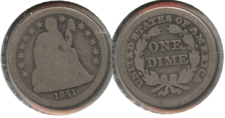1841 Seated Liberty Dime Good-4 #a