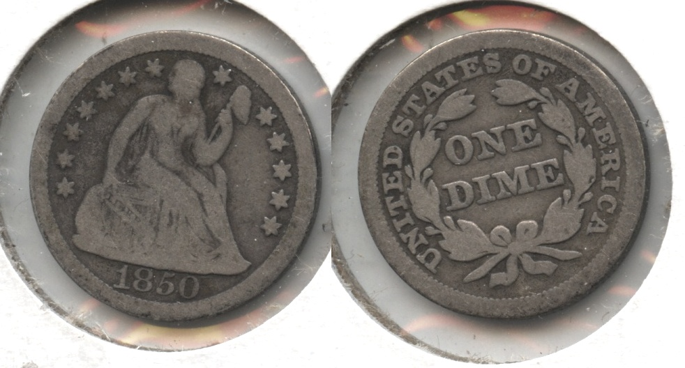 1850 Seated Liberty Dime VG-8