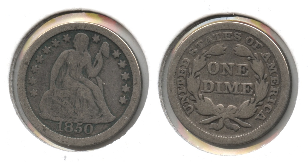 1850 Seated Liberty Dime VG-8 #a