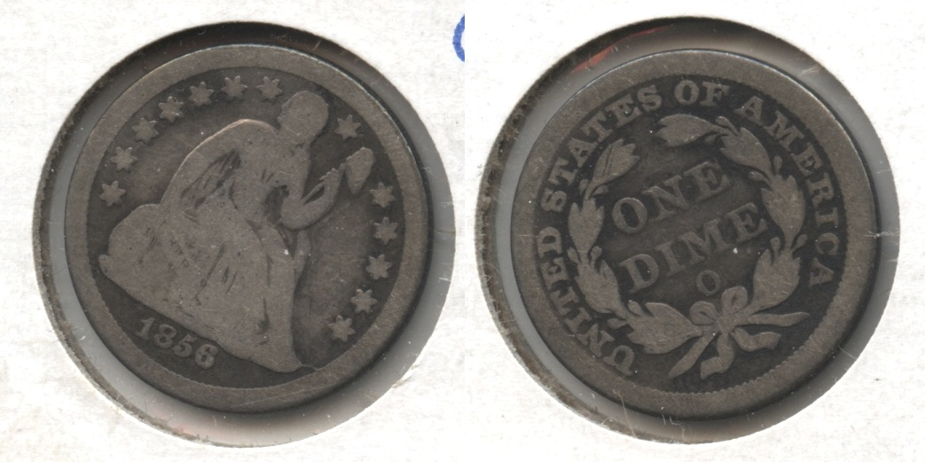 1856-O Seated Liberty Dime Good-4 #a