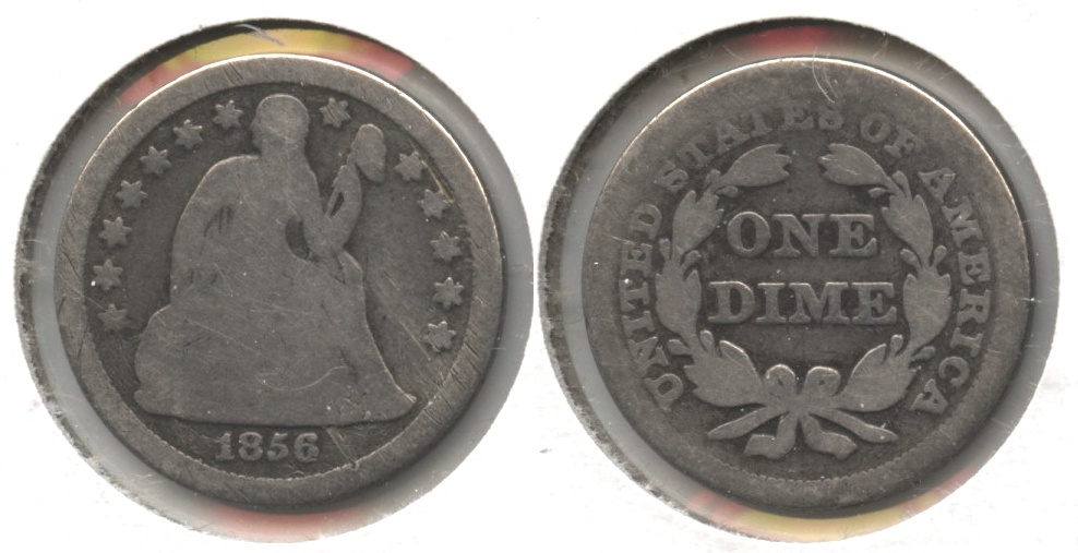 1856 Seated Liberty Dime Good-4 #h