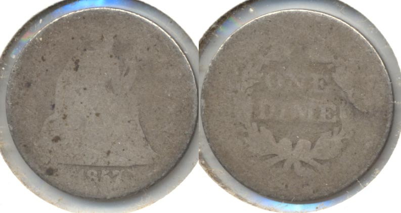 1857 Seated Liberty Dime Fair-2