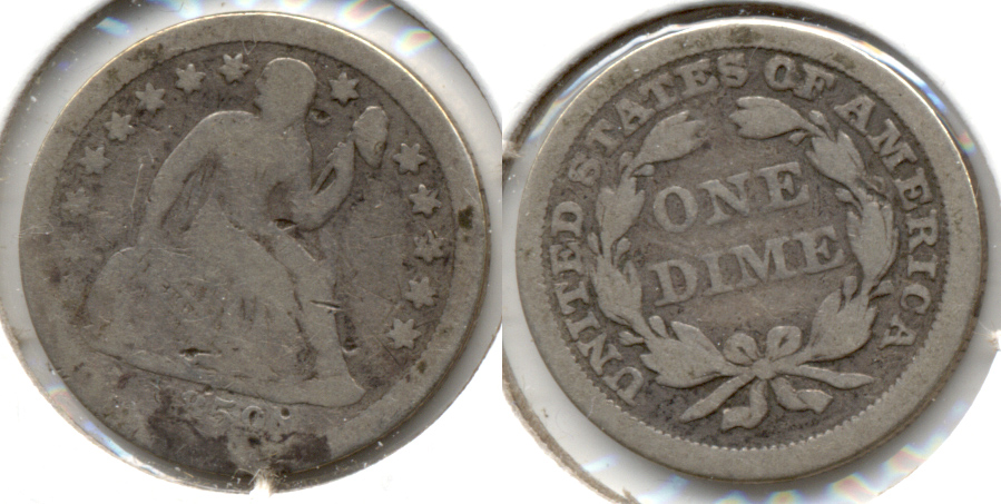 1859 Seated Liberty Dime AG-3