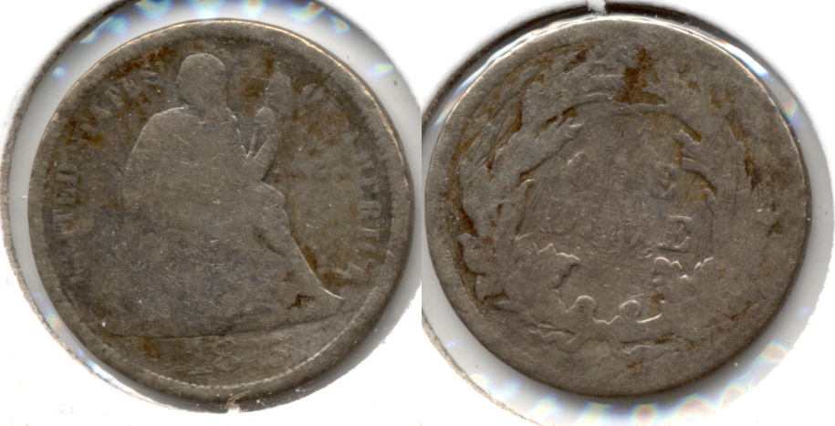 1875-CC Seated Liberty Dime Good-4 Rough